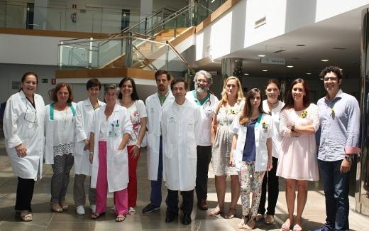 Grupo multidisciplinar de profesionales del Hospital Virgen de la Victoria y fam