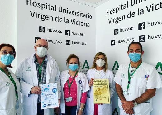 Profesionales de Enfermería del Hospital Virgen de Victoria