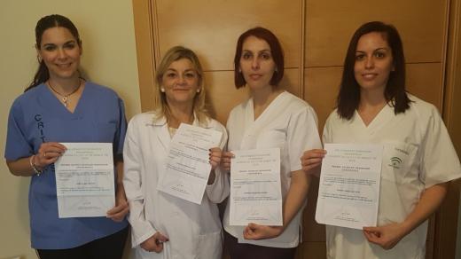 Cuatro enfermeras del Hospital Virgen de la Victoria logran primeros premios