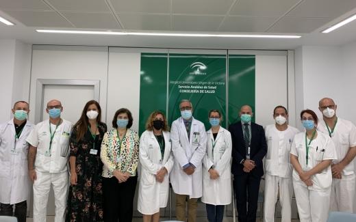 El equipo directivo del Hospital Universitario Virgen de la Victoria
