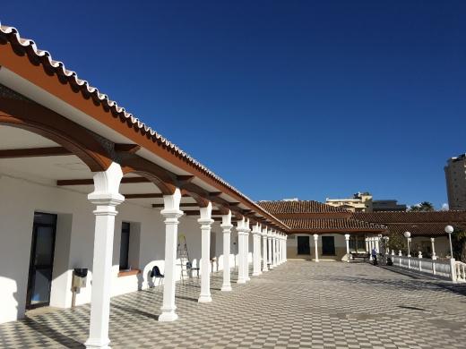 Cubierta y soportales del Hospital Marítimo de Torremolinos
