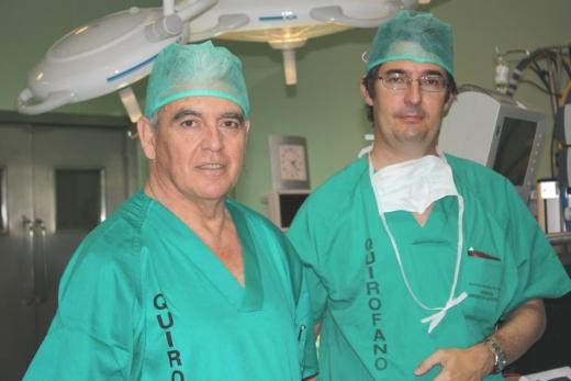 Especialistas en Cirugía Cardíaca del hospital, Miguel Such y Carlos Porras