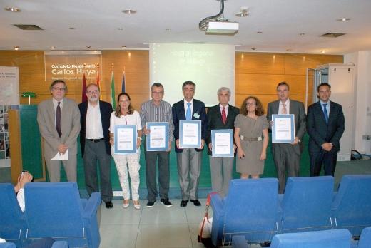 Acto de acreditación en el salón de actos del hospital Regional de Málaga