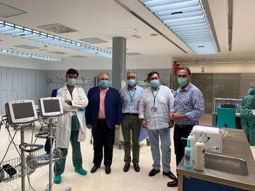 Responsables de Salud en la visita al Hospital Valle del Guadalhorce