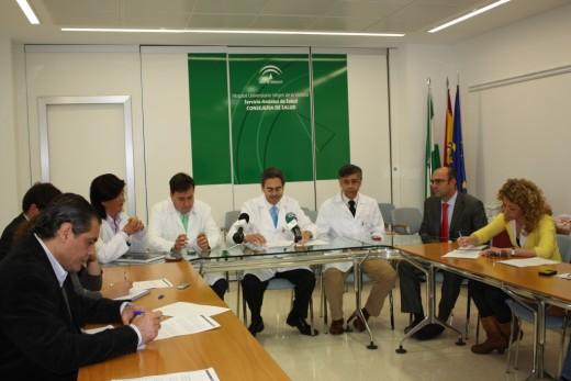 Nuestro director Gerente, Tomás Urda, acompañado por otros miembros del equipo