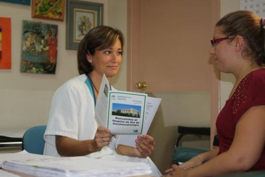 Consulta de enfermería del Hospital de Día de Oncología