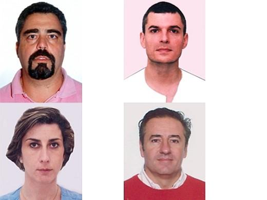 José Félix Cabello, Luis Francisco Torres, Paloma Tejedor y Agustín Martos