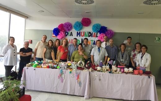 Exposición Día Mundial Salud Mental en el Hospital Virgen de la Victoria