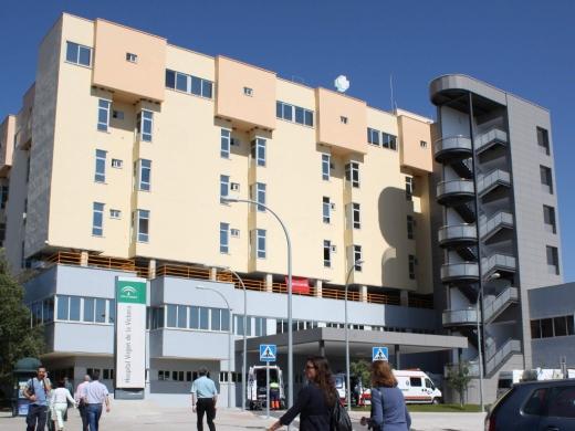 Fachada del Hospital Universitario Virgen de la Victoria