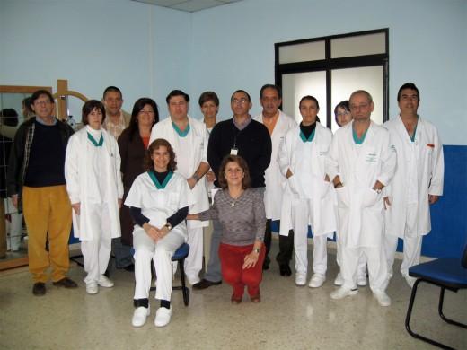 Profesionales de la Unidad de Fisioterapia, Dirección Enfermeria y SS.II.