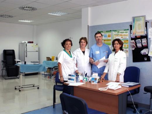 Profesionales del Hospital de Día para Diabéticos del Hospital