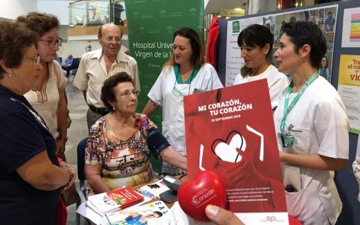 Hospital Virgen de la Victoria por el Día Mundial del Corazón