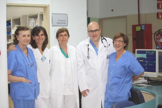 Profesionales médicos y enfermería del hospital de Día de la unidad de Corazón