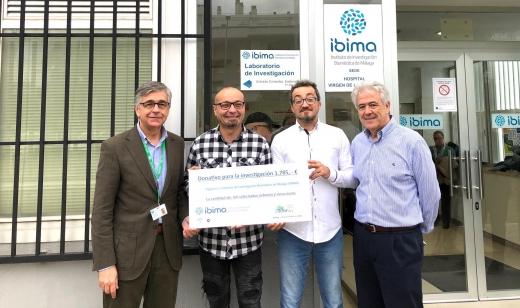 El IBIMA recibe una nueva donación para la investigación en cáncer por parte de