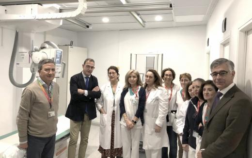 El Hospital Virgen de la Victoria instala nuevo equipo de radiología digital