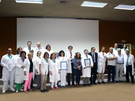 Profesionales de las unidades de Medicina Nuclear y Corazón posando