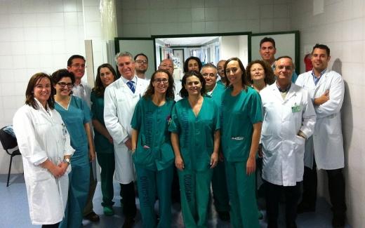 El Equipo de Neurocirugía del Hospital Regional de Málaga