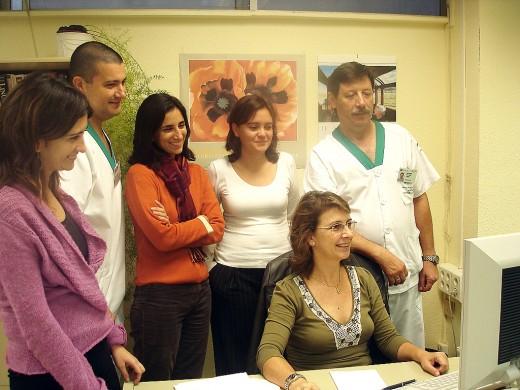 Profesionales de Enfermería y de Sistemas de Información del Hospital