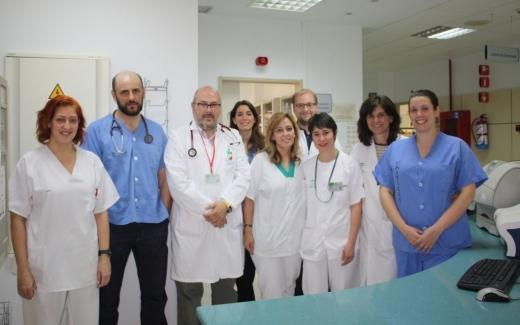 Profesionales de la UGC de Corazón del Hospital Virgen de la Victoria