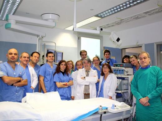 Equipo de profesionales que integra la unidad de Arritmias del Hospital
