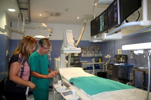 Vista de la Sala de Radiología Vascular Intervencionista