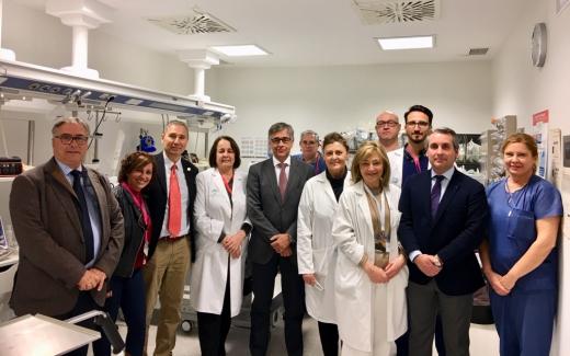El gerente del SAS visita el Hospital Valle del Guadalhorce